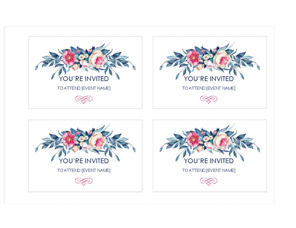 45 Format Flower Card Templates Excel With Stunning Design by Flower Card Templates Excel