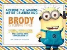 Birthday Invitation Card Template Minion