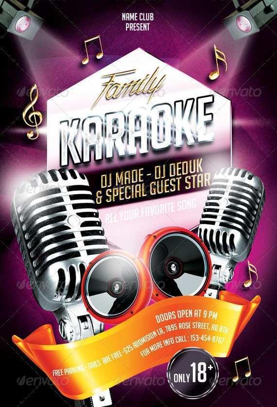 45 How To Create Free Karaoke Flyer Template Layouts by Free Karaoke Flyer Template