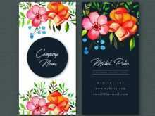 45 Online Floral Name Card Template Free in Photoshop for Floral Name Card Template Free