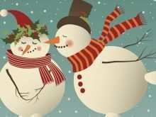 Snowman Card Template Free