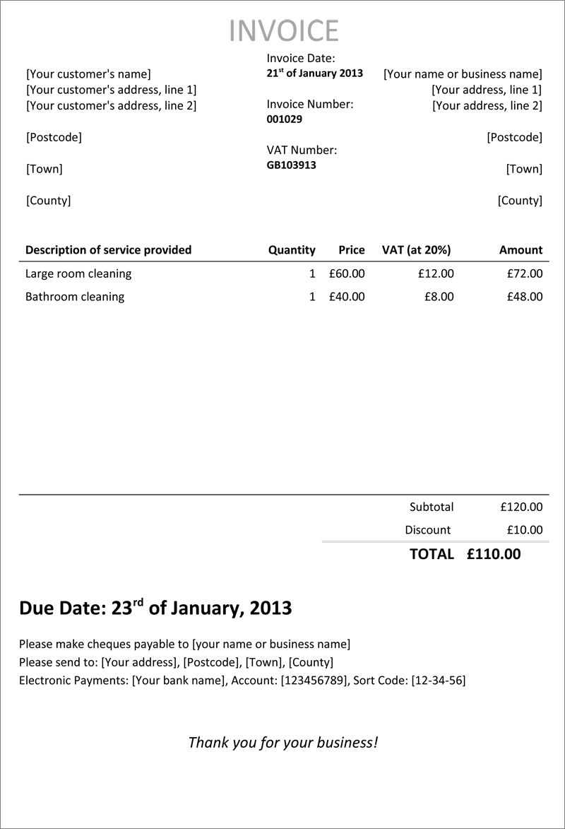 45 Online Tax Invoice Template Uk Now For Tax Invoice Template Uk Cards Design Templates