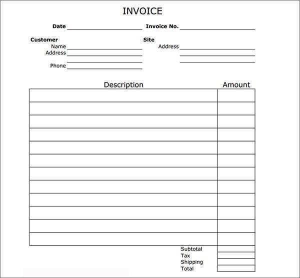 45 Report Blank Billing Invoice Template Pdf Photo For Blank Billing Invoice Template Pdf Cards Design Templates