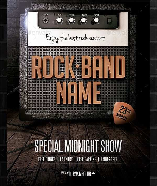 45 Standard Band Flyers Templates With Stunning Design with Band Flyers Templates