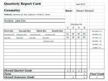45 The Best High School Report Card Template Word Layouts for High School Report Card Template Word