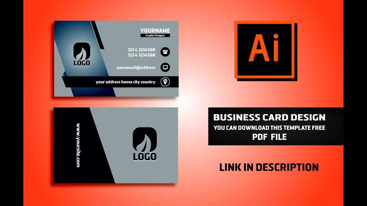 45 Visiting Business Card Template Illustrator File Download with Business Card Template Illustrator File