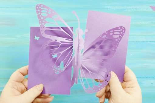 45 Visiting Pop Up Card Butterfly Tutorial in Word for Pop Up Card Butterfly Tutorial