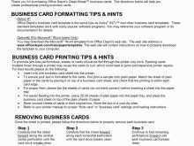 46 Adding 2 Fold Business Card Template in Word for 2 Fold Business Card Template