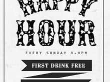 46 Adding Happy Hour Flyer Template Free Maker by Happy Hour Flyer Template Free