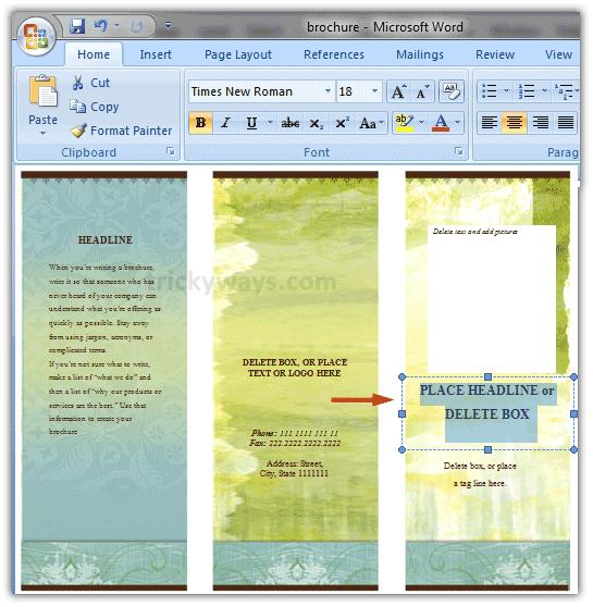 Microsoft Word Brochure Template 2010 from legaldbol.com