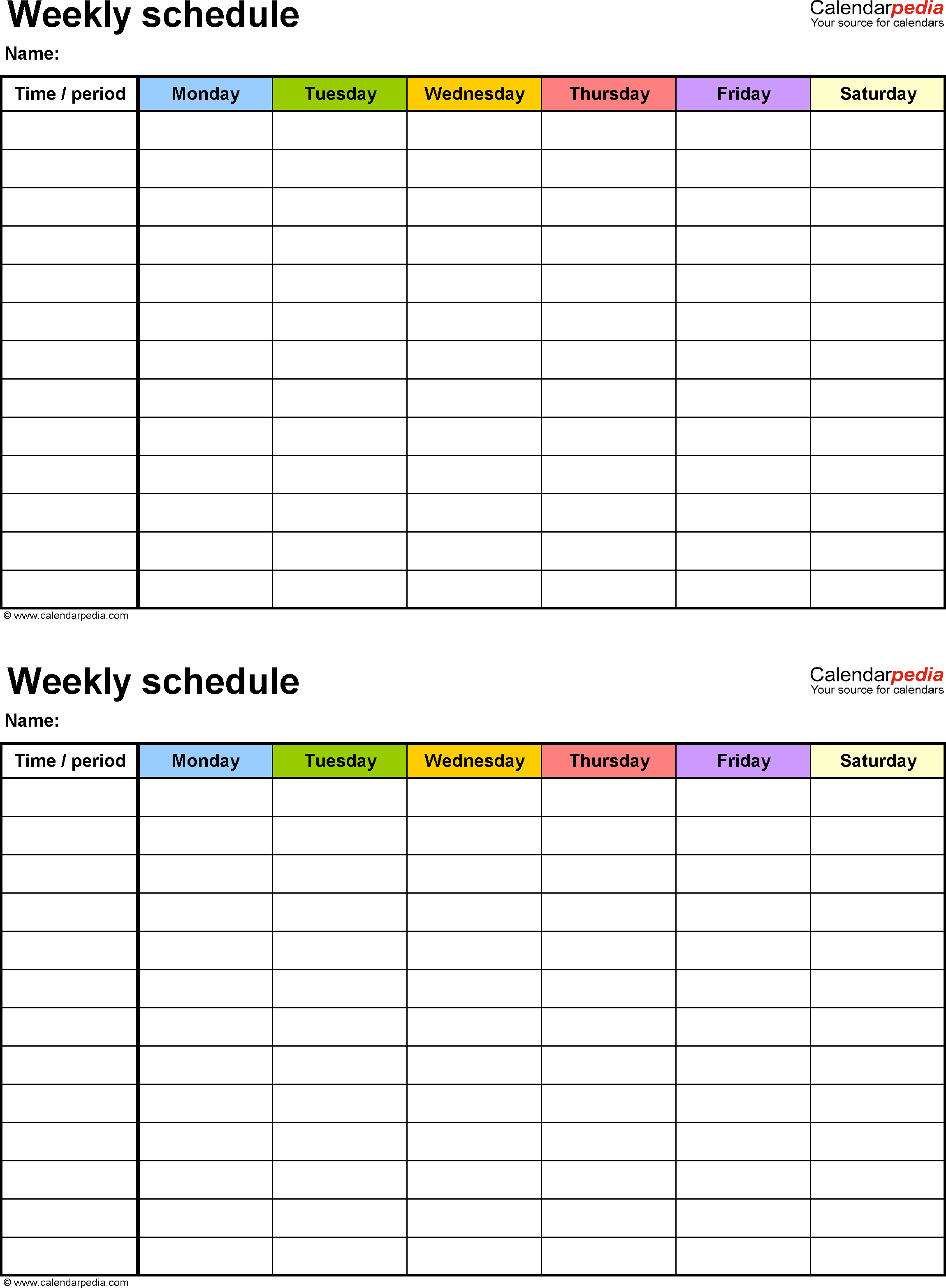 46 Best Class Schedule Template Online for Ms Word for Class Schedule Template Online