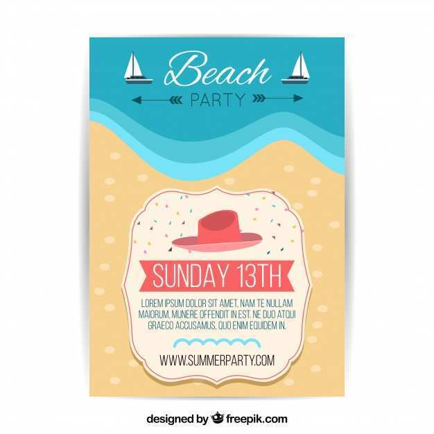 46 Blank Beach Flyer Template Free in Word by Beach Flyer Template Free