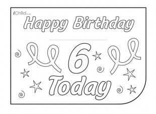 46 Create 6Th Birthday Card Template in Word with 6Th Birthday Card Template