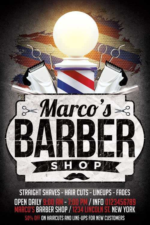 46 Create Barber Shop Flyer Template Free With Stunning Design by Barber Shop Flyer Template Free