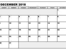 Daily Calendar Template December 2018