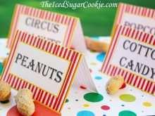 Circus Tent Card Template