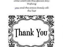 Sample Thank You Card Templates