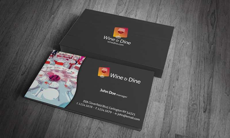 46 Customize Our Free Business Card Template Restaurant Photo with Business Card Template Restaurant