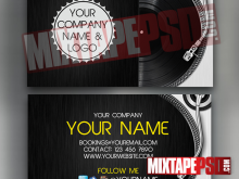 Business Card Templates Dj Free