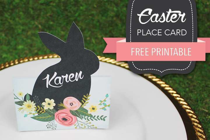 46 Free Easter Place Card Template Free For Free for Easter Place Card Template Free
