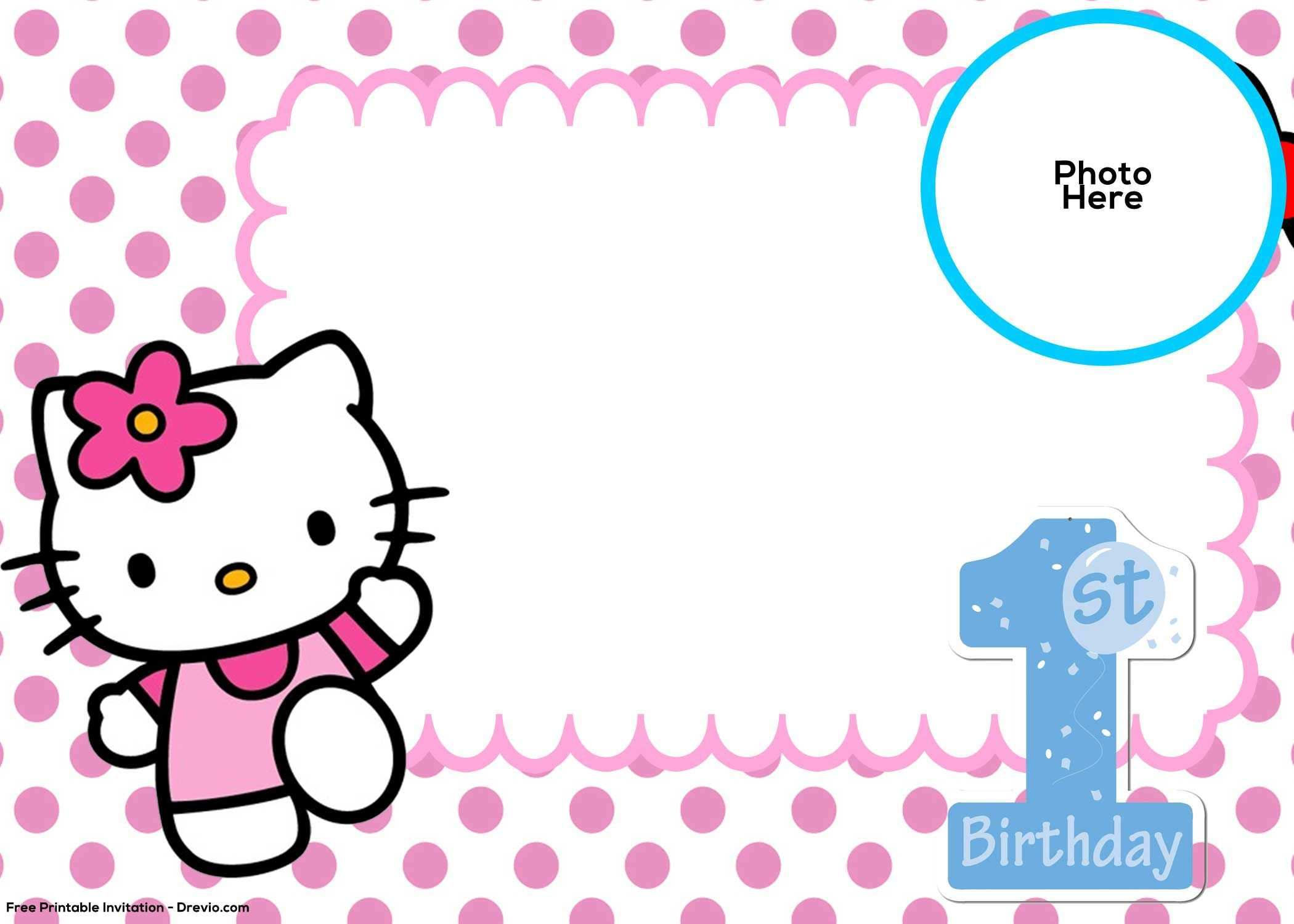 1st Birthday Card Template Word