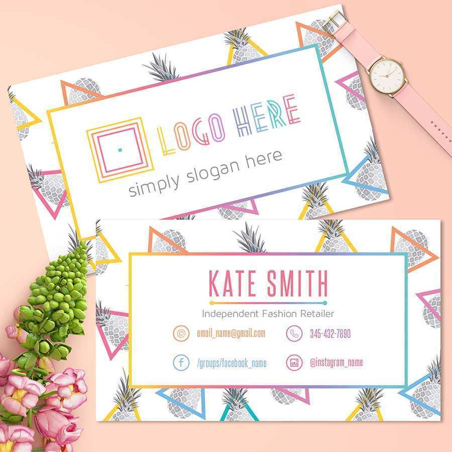 46 Free Printable Business Card Template With Facebook And Instagram Logo For Ms Word For Business Card Template With Facebook And Instagram Logo Cards Design Templates