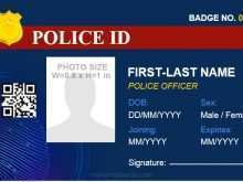 Law Enforcement Id Card Template