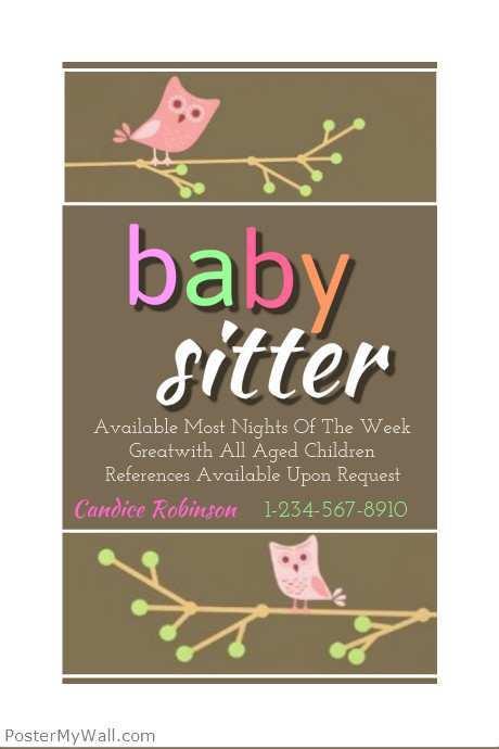 46 Printable Babysitting Flyer Free Template Maker with Babysitting Flyer Free Template