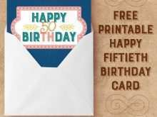 46 Report 50Th Birthday Card Template Free Maker by 50Th Birthday Card Template Free