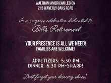 46 Report Invitation Card Format For Retirement Party Photo by Invitation Card Format For Retirement Party