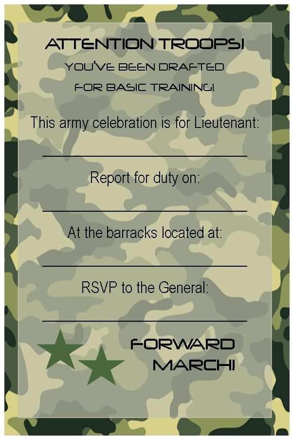 46 Standard Army Birthday Card Template Templates by Army Birthday Card Template