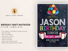 46 The Best Birthday Party Invitation Flyer Template Formating with Birthday Party Invitation Flyer Template