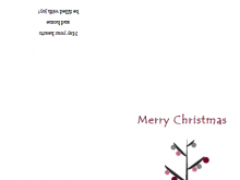 46 Visiting 4 Fold Christmas Card Template for Ms Word by 4 Fold Christmas Card Template