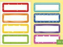 Name Card Template Eyfs