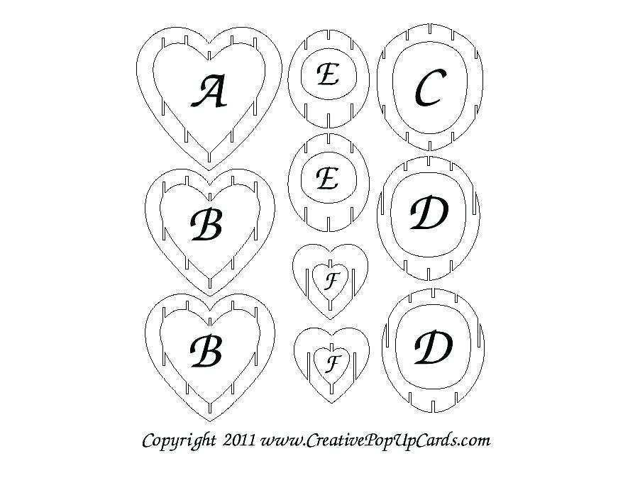 47 3D Heart Pop Up Card Templates Free Download Formating by 3D Heart Pop Up Card Templates Free Download