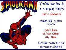 47 Blank Birthday Card Template Spiderman With Stunning Design for Birthday Card Template Spiderman