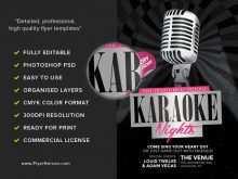 47 Blank Free Karaoke Flyer Template Layouts for Free Karaoke Flyer Template