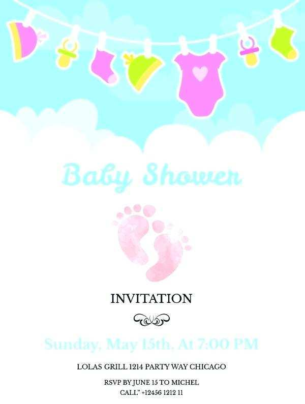 47 Create Baby Shower Flyer Templates Free Formating by Baby Shower Flyer Templates Free