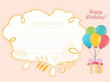 47 Create Birthday Card Template For Boyfriend Layouts with Birthday Card Template For Boyfriend