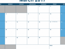 Daily Calendar Template For Numbers