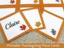 Place Card Template Thanksgiving