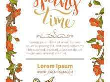 Spring Card Template Free