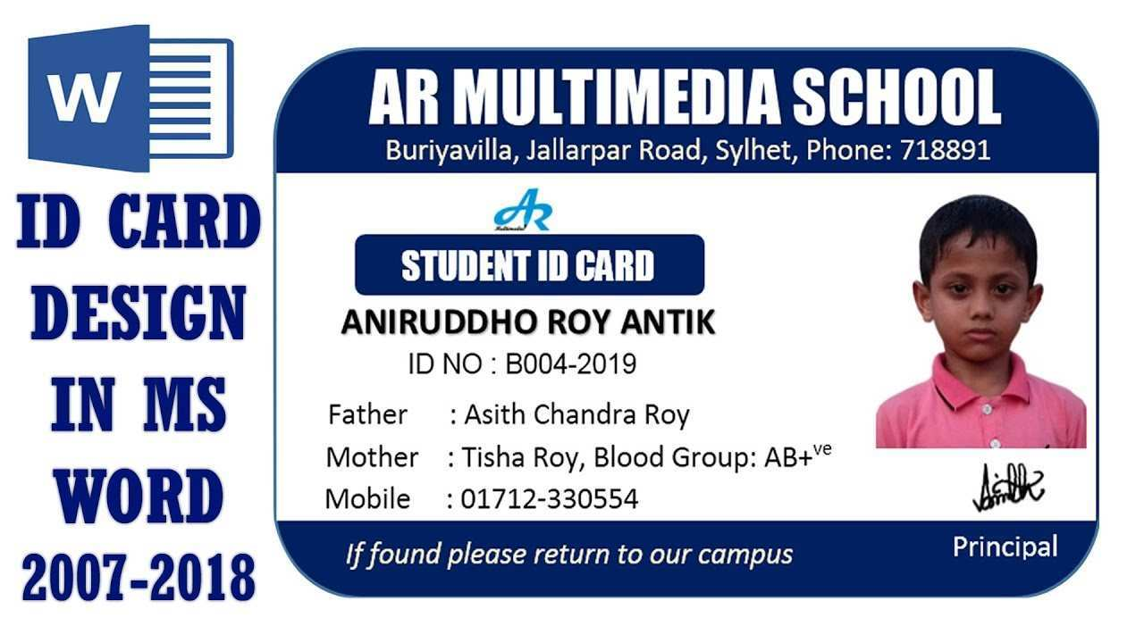 47 Create Student Id Card Template