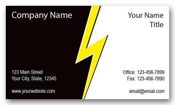 47 Customize Business Card Template Electrician in Word for Business Card Template Electrician