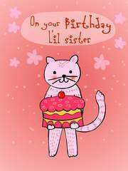 47 Customize Our Free Birthday Card Templates For Sister Download by Birthday Card Templates For Sister