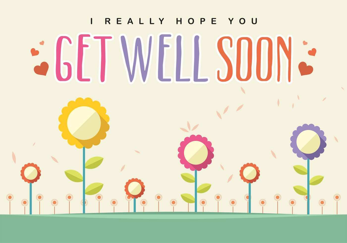 Get Well Soon Card Templates - Cards Design Templates With Regard To Get Well Soon Card Template