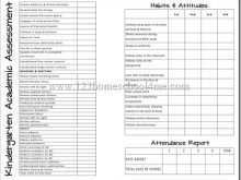 Homeschool 1St Grade Report Card Template