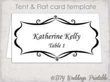 Place Card Template On Word