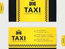 Taxi Driver Business Card Template Free Download
