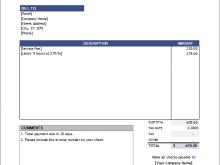 Musician Invoice Example